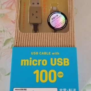 紙箱人USB 充電線