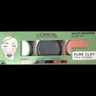 LOREAL CLAY MINI MASKS
