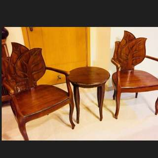 Teak Wood Carving Chairs Ad Coffe Table
