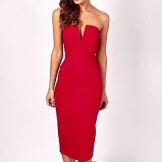 Mossman red dress 6