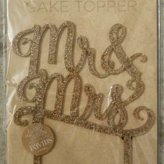 Brand new in packet, Mr & Mrs Wedding Cake Topper
