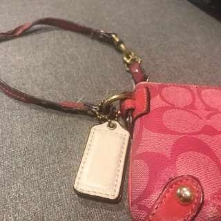 Coach wristlet pink