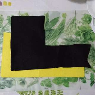 (Free) Leftover Yellow And Black Felt