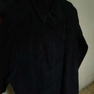 Kemeja Styves navy blue xxl