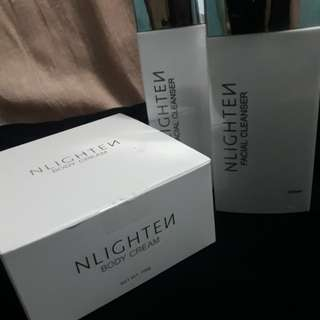 NLIGHTEN Body Cream & NLIGHTEN Facial Cleanser