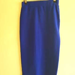 Royal blue pencil skirt
