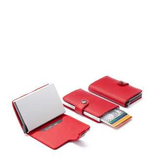 Genuine leather Fancy RED wallet