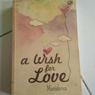 Dijual novel indonesia a wish for love