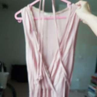 1 dkny usa soft pink peach dress sz xs