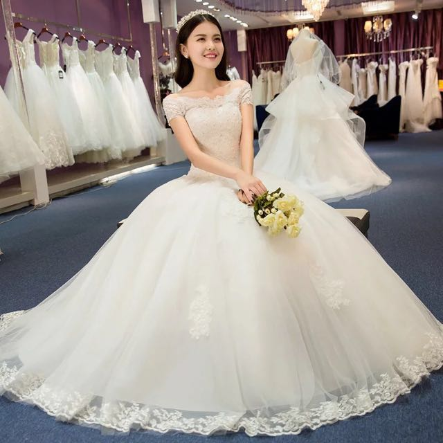 100 New Sample Wedding Dress Ball Gown For Sale4 Layers Of Yarns