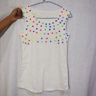 no brand studded tank top