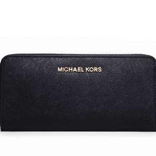 全新正品 Michael Kors熱賣基本黑色長夾