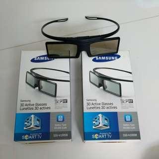3 sets Samsung active 3D glasses