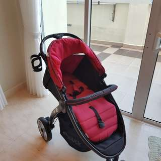 Hauck Lift Up 3 Baby Stroller (Red) - Suitable for newborn