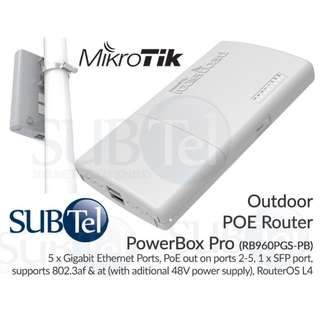 MikroTik RB960PGS-PB Outdoor PowerBox Pro Router 802.3af 802.3at POE