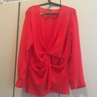 Sheike bright red blouse size 16