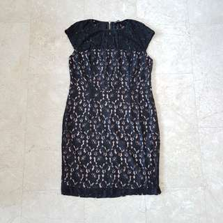 Brand New Dorothey Perkins Dress UK 18 Black Lace