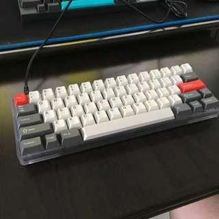 Custom 60% keyboard with 62g zealios