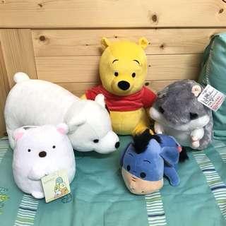 🚚 全新 | 小熊維尼 北極熊 角落生物 倉鼠 屹耳 娃娃 玩偶