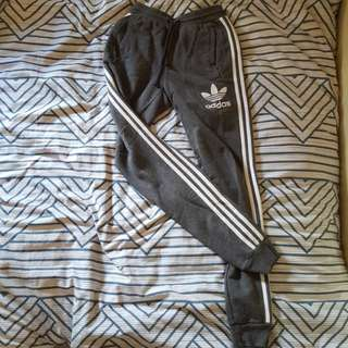 Authentic Cuffed grey adidas superstars joggers/tracksuit pants