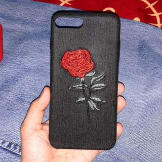 Embroidered Roses bendable cases for iPhone 6/6s/6 Plus/6s Plus/7/7 Plus
