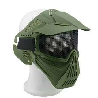 戶外運動野戰戰術面罩/綠色