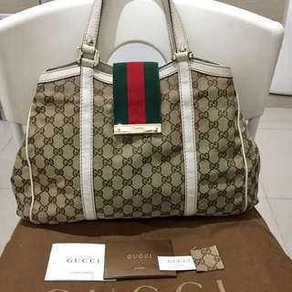Authentic Gucci Canvas Bag Preloved