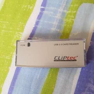 Cliptec USB 2.0 Card Reader