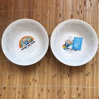 大口仔 彩虹系列 一套兩隻湯麵碗 (2007)絕版 日本製造