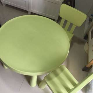 Ikea kids round table n chairs