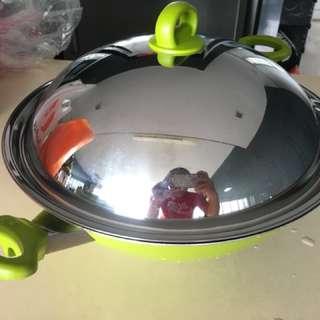 Meyer Chinese Non-Stick Wok - Apple Green