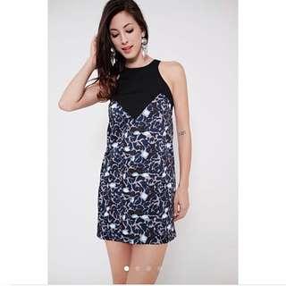 Mds Imogen dress in blue prints