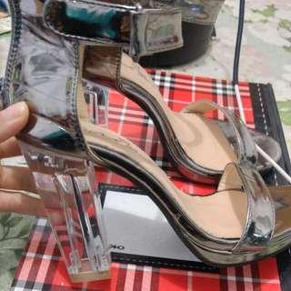 Sepatu Kaca Glass Heel size 35