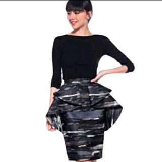 Love Bonito Origami Skirt in Grey