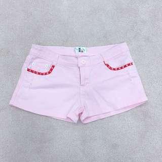全新粉色小短褲
