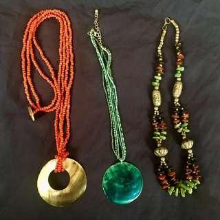Shell/gemstone Necklaces
