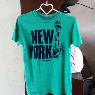 Pull & Bear Green Shirt Small