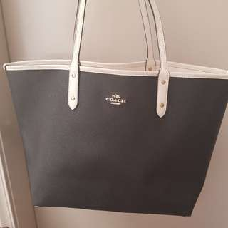 Coach Reversible Black and White Tote Bag
