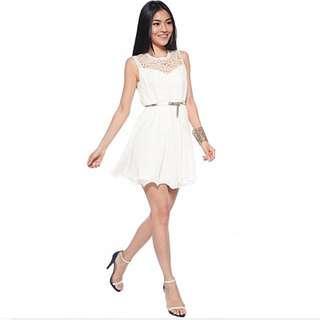 Love Bonito Darissa Flare cream ivory  elegant dress