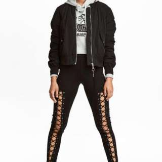 H&M leggings with lacing (REPRICED)