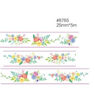 Flowers #8765 Washi Tape 25mm x 5m