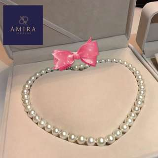 Freshwater Pearls Necklace👰🏻 by amira jewellery