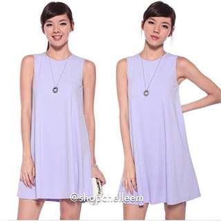 Love Bonito basic Fonda Flare  lilac dress