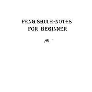 [FREE DOWNLOAD] Feng Shui eNotes For Beginner
