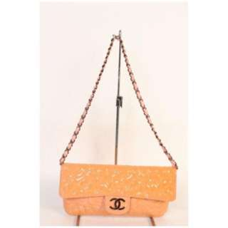 💯 Authentic Chanel mark camellia embossed