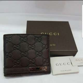 authentic brand new full set gucci men wallet