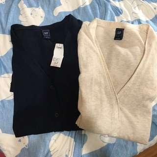 Gap針織外套(深藍、米色)