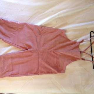 Cheep pink overalls