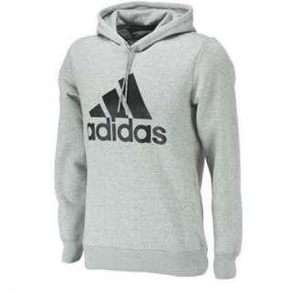 Adidas Essentials Logo Hoodie [SIZE M, GREY]