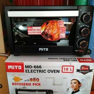 Oven listrik mito 18lt, electric oven mito MO-666